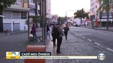 Moradores de Méier reclamam de sumiço de ônibus - Linhas 651 e 652 não aparecem mais na rua.