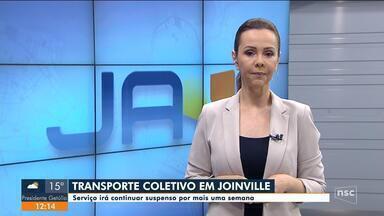 Transporte coletivo em Joinville segue suspenso por mais uma semana - Transporte coletivo em Joinville segue suspenso por mais uma semana
