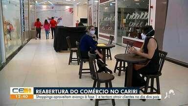 Com reabertura do comércio no Cariri, lojas aproveitam para atrair compras no Dia dos Pais - Saiba mais em g1.com.br/ce
