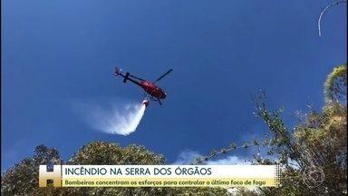 Ainda resta um foco de incêndio na Serra dos Órgãos, no Rio de Janeiro - O fogo já destruiu o equivalente a 250 campos de futebol da mata.