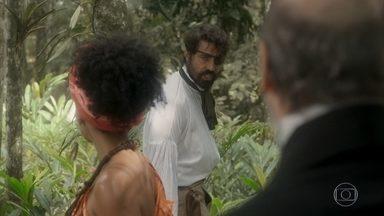 Ferdinando, Diara e Schultz procuram por Greta - Schultz sugere que a austríaca esteja na cachoeira
