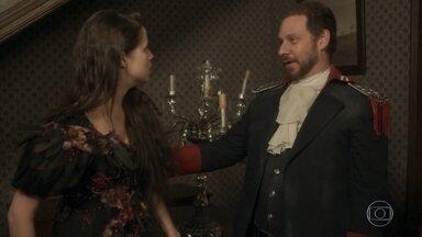 Felício leva Domitila à força da casa de Thomas - Thomas manda Rosa juntar os pertences das duas e partir