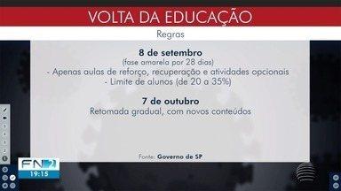 Aulas presenciais devem retornar no dia 7 de outubro no Estado de São Paulo - Decisão vale para cidades que estiverem na fase amarela por pelo menos 28 dias.