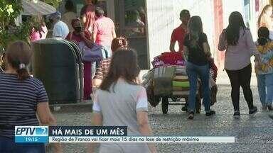Região de Franca, SP, tem pior taxa de ocupação em leitos de UTI do estado - Municípios seguem na fase vermelha do Plano São Paulo. Restrição de abertura preocupa comércio e outras atividades econômicas.