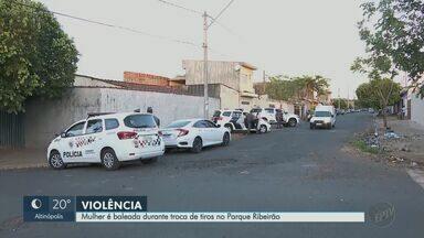 Mulher é baleada em troca de tiros no Parque Ribeirão Preto - Vítima caminhava na Rua Cruz e Souza quando foi atingida na perna.