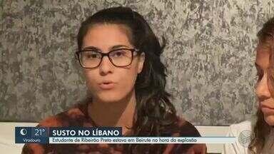 Estudante de Ribeirão Preto no Líbano relata desespero durante explosão - Elissar Atwi mora com a tia em Beirute.