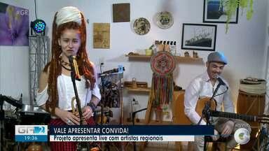 Projeto 'Vale Apresentar Convida' realiza live com artistas da região - Nesta sexta-feira (07) Fernanda Luz, Celso Drums e Eugênio Cruz se apresentam no evento online.
