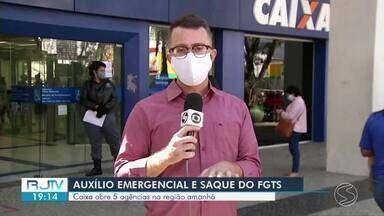 Agências da Caixa reabrem neste sábado para saques do auxílio emergencial - Mais cinco agências do Sul do Rio devem reabrir pra atender a população.