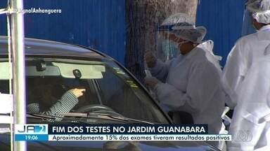 Primeira fase de testes da Covid-19 termina nesta sexta-feira, em Goiânia - Testagem foi feita no Setor Jardim Guanabara.