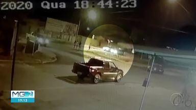 Polícia Civil prende investigado por tentar matar namorado da ex em Taiobeiras - Crime foi flagrado por câmeras de segurança.
