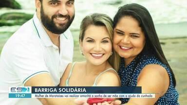 Mulher de Marataízes realiza sonho de ser mãe com barriga solidária, no ES - Veja a reportagem.