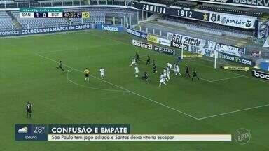 São Paulo tem jogo adiado e Santos tropeça na Vila Belmiro - Confira os gols do Brasileirão.