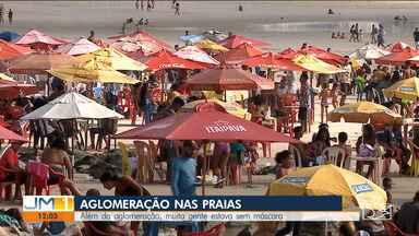 Aglomerações são registradas em praias da Grande Ilha de São Luís - As areias da praia ficaram completamente lotadas durante o fim de semana.