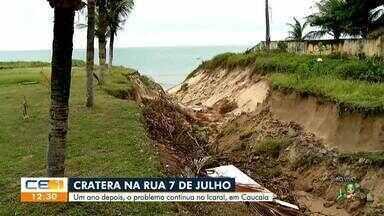 Há um ano, rua com crateras causa transtornos aos moradores do Icaraí - Saiba mais no g1.com.br/ce
