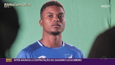 Inter anuncia a contratação do zagueiro Lucas Ribeiro nesta segunda-feira (10) - Jogador de 21 anos era do time alemão Hoffenheim. Bruno Fuchs pode ser negociado com o futebol francês.