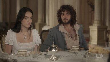 Anna é chamada para comparecer à embaixada da Inglaterra - Joaquim se desespera e Bonifácio diz que irá acompanhá-la