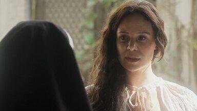 Amália procura Madre Assunção no convento - Ela afirma que existe uma forma de saber a identidade de seu filho