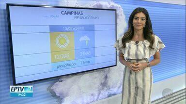 Massa de ar quente ganha força na região de Campinas; veja a previsão desta terça (11) - Em Mogi Mirim (SP), mínima é de 14ºC e máxima de 30ºC.