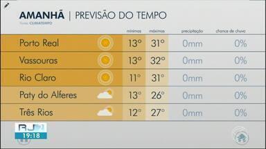 Terça-feira será de tempo seco e quente nas cidades do Sul e Costa Verde do Rio de Janeiro - Meteorologia descarta possibilidade de chuva na região.