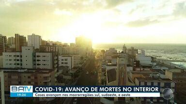 Mortes por Covid-19 têm aumentado nas regiões Sul, Sudoeste e Oeste da Bahia - A Bahia ultrapassou a marca de 4 mil pacientes com Covid-19 mortos nesta segunda-feira (10), segundo boletim divulgado pela Secretaria de Saúde do Estado (Sesab).