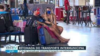 Transporte intermunicipal em cidades da Bahia é retomado nesta segunda-feira - Primeiro dia foi marcado por movimento tranquilo nas rodoviárias.