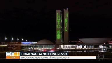 Congresso faz luto em homenagem às vítimas da Covid-19 - Sessões foram suspensas por quatro dias em memória das 100 mil mortes no Brasil.