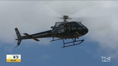 CTA executa ações de combate à criminalidade em Codó - Helicóptero do Centro Tático Aéreo (CTA) está realizando operações na região dos Cocais e tem chamado a atenção dos moradores de várias cidades.
