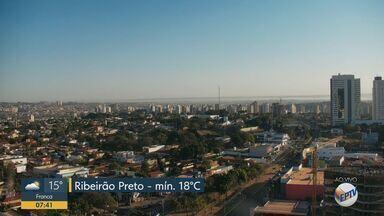 Ribeirão Preto, SP, tem temperatura máxima de 31ºC nesta quarta-feira (12) - Dia começou com mínima de 18ºC.