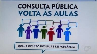 Prefeituras na região de Araçatuba fazem consulta pública para volta às aulas - Na região de Araçatuba (SP), algumas prefeituras já começaram a fazer consulta pública para definir o retorno de aulas.