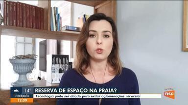 Tecnologia pode ser aliada para evitar aglomerações em praias de Florianópolis - Tecnologia pode ser aliada para evitar aglomerações em praias de Florianópolis