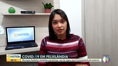 Confira a situação da covid-19 em Felixlândia - A Prefeitura decidiu flexibilizar as atividades econômicas.
