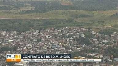 Cedae inflou tamanho de favelas em prestação de contas - Teve favela que foi descrita com tamanho seis vezes maior. Companhia nega irregularidades.