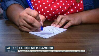 Isolados, pacientes com Covid-19 mandam mensagens de carinho por meio de bilhetes - Veja a segunda reportagem da série 'Amor Solidário'.