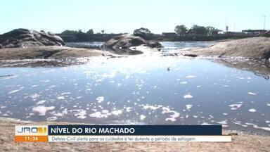 Defesa Civil faz alerta sobre nível do Rio Machado em RO - Defesa Civil faz alerta sobre nível do Rio Machado em RO