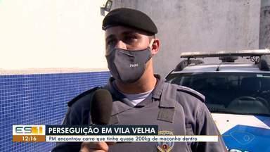 Quase 200 quilos de maconha são apreendidos dentro de carro em Vila Velha, ES - Suspeitos fugiram.