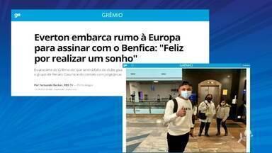 Cearense Éverton deixa Grêmio e embarca para Portugal rumo ao Benfica - Saiba mais em ge.globo/ce