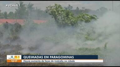 Queimadas colocam em risco a saúde e segurança das pessoas em Paragominas, no Pará - Queimadas colocam em risco a saúde e segurança das pessoas em Paragominas, no Pará