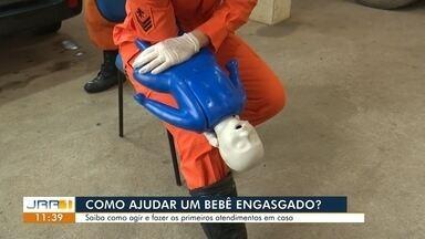 Bombeiros em RR dão dicas sobre primeiros socorros a bebês engasgados - Dicas podem ajudar os pais a salvarem a vida dos filhos.