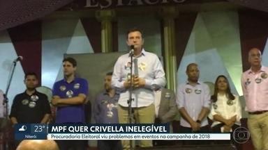 Procuradoria Regional Eleitoral quer Marcelo Crivella inelegível até 2026 - MPF viu problemas em dois eventos ocorridos em 2018 quando o prefeito do Rio pediu votos para candidatos a deputado. Um deles era seu filho, Marcelo Hodge Crivella.
