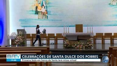 Primeira festa em homenagem a Irmã Dulce terá missa virtual por causa da pandemia - Confira mais informações sobre a celebração, que acontecerá na quinta-feira (13).