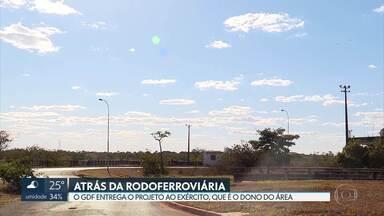 GDF entrega ao Exército projeto de um novo bairro - A área, que pertence ao Exército, fica atrás da antiga Rodoferroviária, na margem da Estrutural.