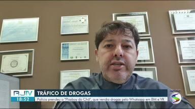 Polícia prende traficante que vendia maconha pelo WhatsApp em Barra Mansa e Volta Redonda - Ele selecionava clientes e marcava encontros na Avenida Beira Rio, no limite entre as duas cidades.