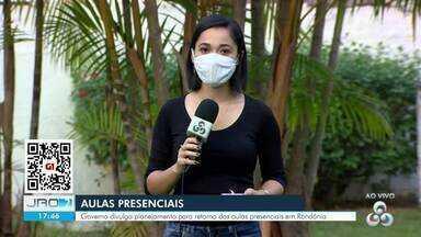 Governo divulga planejamento para retorno gradual das aulas presenciais em Rondônia - Não há data definida para a retomada das aulas
