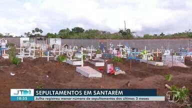 Julho tem registro menor no número de sepultamentos dos últimos três meses em Santarém - Confira.