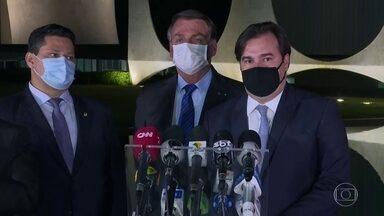 Maia diz que Câmara está pronta para debater reforma administrativa - Presidente da Câmara dos Deputados se reuniu com o presidente Jair Bolsonaro para reafirmar compromisso com o teto de gastos.