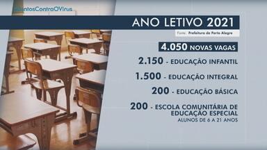 Prefeitura de Porto Alegre anuncia mais de 4 mil novas vagas na educação para 2021 - Organizações da sociedade civil sem fins lucrativos podem apresentar projetos em até 45 dias. Valor total de investimento é de R$ 25,8 milhões.