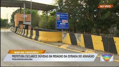 Sistema eletrônico em pedágio em Pinda causa dúvidas - Prefeitura esclarece mudanças no pedágio da estrada do Atanázio