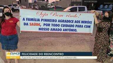 Pacientes tem alta do hospital de campanha da covid-19 em Porto Velho - Entre eles está um idoso que estava na UTI e conseguiu se recuperar da doença.