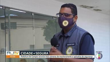 Prefeitura de Campos anuncia aumento no número de câmeras de monitoramento - Prefeitura também lançou um aplicativo para que a população pudesse acompanhar as imagens das câmeras.