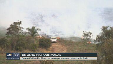 Defesa Civil de Rio Claro usa drone para investigar incêndios no município - Número de queimadas aumentou durante período de seca.
